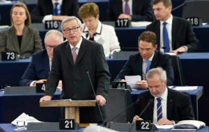European Commission President Juncker addresses the European Parliament to present a plan on growth, jobs and investment in Strasbourg